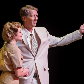 Meghan Jacobs as Nellie Forbush and Griffen Hogan-Tracy as Emile de Becque in the Lamont Opera Theatre production of Rodgers & Hammerstein's SOUTH PACIFIC