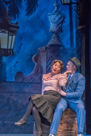 (L to R) Grace Clark as Sarah Brown and Jared Giammanco as Sky Masterson in the Lamont Opera Theatre production of Frank Loesser's GUYS & DOLLS.-small