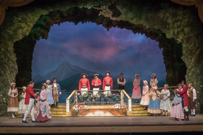 Members of the cast in the Lamont Opera Theatre production of Mozart's Cosi fan tutte. - (online)